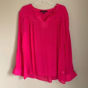 Fever - Pink - Sheer Blouse - Large - 000087